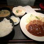 千日亭 - ミンチカツ定食