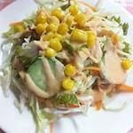 インド・パキスタン料理 ホット・スプーン - 2011-12-08 ランチ(800円)のサラダ