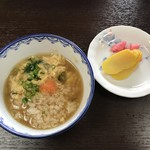 大幸園 - 雑炊と香の物、いただきま〜す