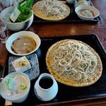 梅の内 - 料理写真:そばセット(そば豆腐、刺身こんにゃく付)