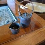 小六庵 - 蕎麦湯の焼き物もかっこいい