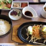 近江牛創作料理 久ぼ多屋 - ハンバーグ御膳税抜き1680円。