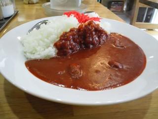 大沢食堂 - 普通盛りでもライス多いなぁ…。