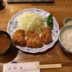 107115684 - ヒレかつ+定食セット