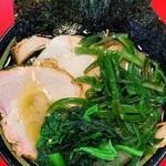 家系ラーメン王道 いしい - 料理写真:塩チャーシューメン3枚¥880 茎わかめ¥110 かためおおめ