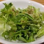 107120852 - グリーンサラダはミニサラダといった感じ。