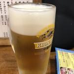 大衆酒場 まるは - 生ビール。