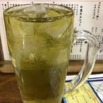 大衆酒場 まるは - 緑茶ハイ。