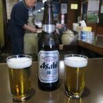 鳥よし - ビール大瓶 800円