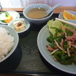 天明 - 豚肉ピーマン定食