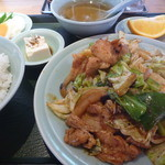 天明 - 豚肉キャベツみそいため定食