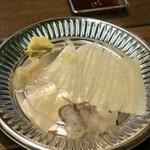 函館朝市 駅二市場 活いか釣り広場 - 料理写真:活イカ釣り堀(時価)※この日は小さめのヤリイカで850円