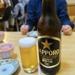王将寿し - ビール大瓶 1000円