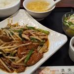 清来軒 - レバニラ炒め定食850円