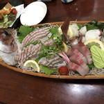 寿しの喜多八 - 祝い鯛(活けつくりで)