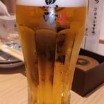 魚吟 新富町 - 生ビール