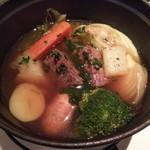 Potofuryourijowa - 牛骨スープ  牛ほほ肉のポトフ