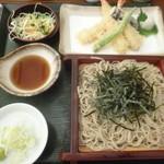 たつみそば - 料理写真:'19/05/05 天ざるそば(1,430円+税)