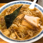 中華そば つけ麺 甲斐 - 料理写真:中華そば(650円)+大盛り(50円)