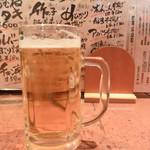 鳥八 - 生ビール(小)