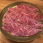 炭火焼肉バル AGITO HIRAO - 鹿児島県産 黒毛和牛 ウワミスジ