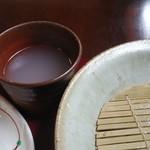 生蕎庵 - 最後に蕎麦湯