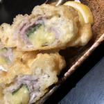 かしわ亭 - お肉のミルフィーユ的なお料理