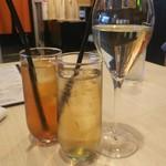107191187 - ◆ランチにアルコール、ソフトドリンク選べます◆スパークリングワイン★プロセッロ★、アイスティー、ジンジャエール♪