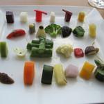 銀座 シェ・トモ - 野菜のパレット♪素晴らしいです。