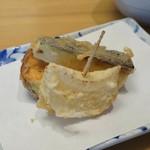 割烹 天ぷら よこい - 新玉ねぎ、さつまいも、なす