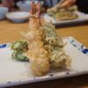 割烹 天ぷら よこい - 料理写真:海老、海老しそ巻き、アスパラ