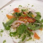 トラットリア デル チェーロ - 虹鱒と野菜のマリネ フェンネル風味