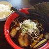 いろは - 料理写真:富山米ライス (中)  190円 富山ブラックラーメン  790円