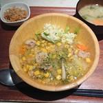 エニシ - 豚肉と野菜のハーブ煮あんかけ¥500-