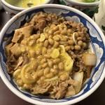 たつ屋 - 納豆牛丼