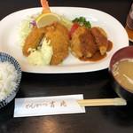 とんかつ 吉兆 - c定食1180円