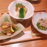 107217257 - おばん菜3種盛り合わせ 1000円