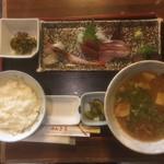 のんき亭 - まぐろ刺身定食