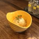 天ぷらスタンドKITSUNE - いぶりがっこのポテトサラダ