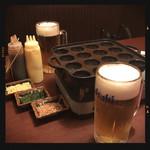 えこひいき - 生ビールで乾杯!