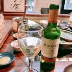 郷土料理・黒豚しゃぶ鍋・ぞうすい 八幡 - 白ワイン!