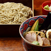 Teuchisobasougen - 料理写真:鴨汁そば黒+素揚げ野菜