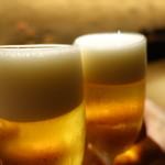 107247824 - 生ビールで乾杯