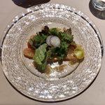 ル・ポワロン - B ¥2,000 の前菜(タスマニアサーモンの燻製)