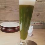 107249159 - ケールビール(ケールとオレンジとビール)…元々シャンディ・ガフが好きな私ははまりました。 甘すぎず飲みやすい。