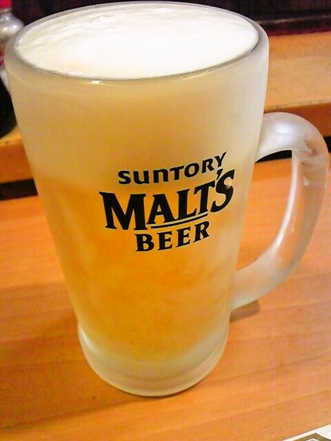 炉ばた焼き 酒肆 大関 - よく冷えた生ビール(中)