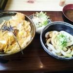 10725729 - ミニ伊勢うどん&ミニカツ丼