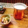かかし - 料理写真:鳥刺と生ビール
