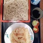 一膳 - 細めん 札幌黄のかき揚げ