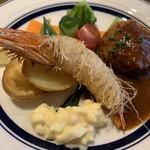 洋食 ルセット - カニクリームコロッケと天使海老のカダイフ揚げ